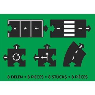 Waytoplay rugalmas autópálya matchbox és más kisautóhoz, 8 db-os építőjáték kiegészítő készlet, Mix