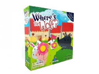 Where's Mr. Wolf?, memória játék (kooperációs társasjáték, 4-8 év)