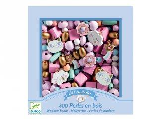Wooden beads, Rainbow, Djeco ékszerkészítő kreatív szett - 9823 (4-8 év)