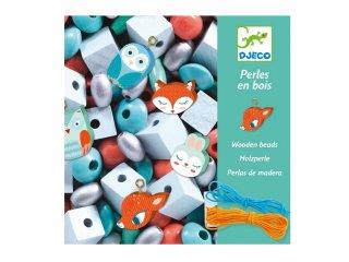 Wooden beads, Small animals, Djeco állatos ékszerkészítő kreatív szett (9807, 4-8 év)