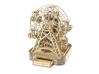 Wooden City Óriáskerék mechanikus modell, fa építőjáték