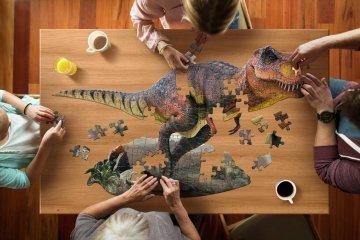 Wow Puzzle T-Rex, 100 db-os dínós formakirakó