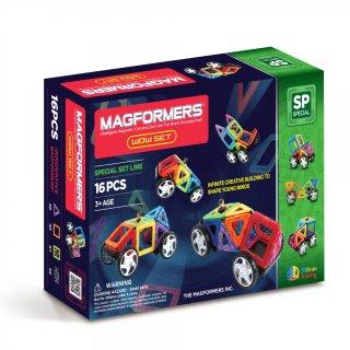Wow Starter Set (Magformers, 16 db-os mágneses építőjáték, 22 db ötletlappal, 3-12 év)