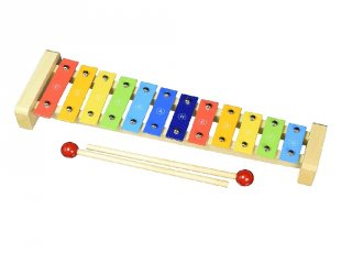 Xilofon gyerekeknek (Goki, 61907, fa játékhangszer, 2-7 év)