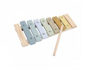 Xilofon, Little Dutch fa játékhangszer, kék (7017, 3-7 év)
