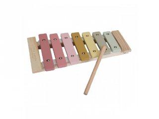 Xilofon, Little Dutch fa játékhangszer, pink (7016, 3-7 év)