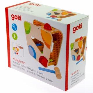Xilofonos ütögetős játék (Goki, 58521, fa játékhangszer, 1-3 év)