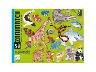 Zanimatch (Djeco, 5153, állatos gyorsasági kártyajáték, 5-99 év)