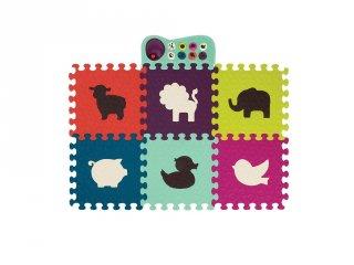 Zenélő állatos padló puzzle (B.Toys, játszószőnyeg, 6 hó-3 év)