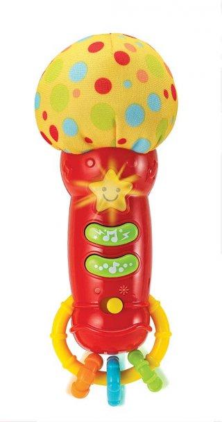 Zenélő bébi mikrofon, babajáték (3 hó-3 év)