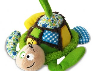 Zenélő plüssállat, Lulu, a teknős (Funky Garden, bébijáték, 0-3 év)