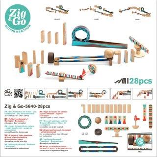 Zig&Go Sokasodó, Djeco 28 db-os logikai építőjáték fából - 5640 (8-13 év)
