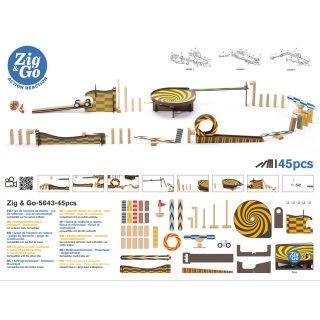 Zig&Go Sokasodó, Djeco 45 db-os logikai építőjáték fából - 5643 (8-13 év)