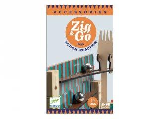 Zig&Go Sokasodó Fork, Djeco 14 db-os logikai építőjáték fából - 5646 (8-13 év)