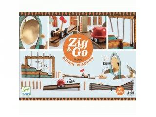 Zig&Go Sokasodó Music, Djeco 52 db-os logikai építőjáték fából - 5645 (8-13 év)