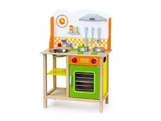 Zöld-narancs játékkonyha (FP, fa szerepjáték, 3-8 év)