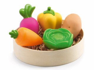 Zöldségek (Djeco, 6609, 5 db-os konyhai kellék, 2-7 év)