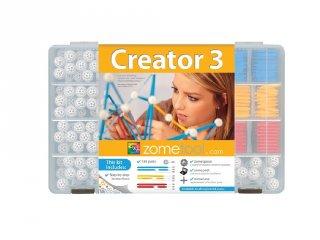 Zometool, Creator 3, családi készlet (ZT-3-KIT, tudományos építőjáték, 6-99 év)
