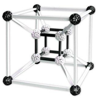 Zometool, Design 3, fekete-fehérben (ZT-DES3, tudományos építőjáték, 6-99 év)