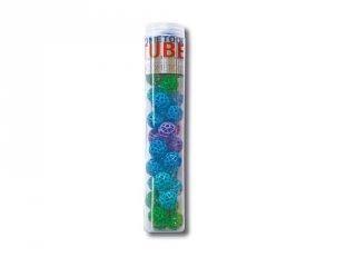 Zometool, Kék-zöld golyó készlet, 34 db (ZT-49911, tudományos építőjáték, 6-99 év)