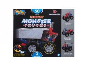 ZOOB építőjáték, Monster Truck autóépítő (12058, 56 db-os kreatív készlet, 5-12 év)