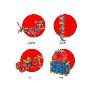 ZOOB építőjáték, tárolódobozban (11500, 500 db-os kreatív készlet, 5-12 év)