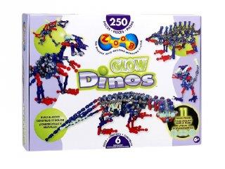 ZOOB építőjáték, Világító dinoszauruszok (14004, 250 db-os kreatív készlet, 5-12 év)