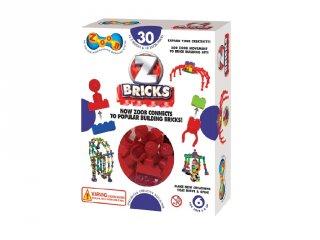 ZOOB építőjáték, Z-Bricks összekötő elemek (15030, 30 db-os kreatív készlet, 5-12 év)