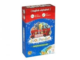 Zoolphabet - Állatira jó angol tanulás, Brainy Brand kártyajáték (5-10 év)