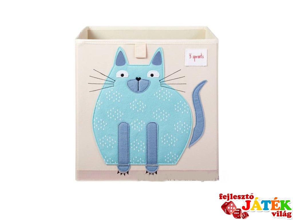Kockatároló cica, gyerekszoba kiegészítő (3SPR)