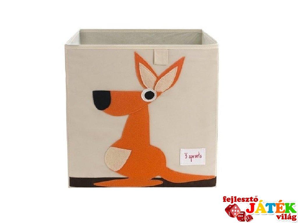 Kockatároló kenguru, gyerekszoba kiegészítő (3SPR)