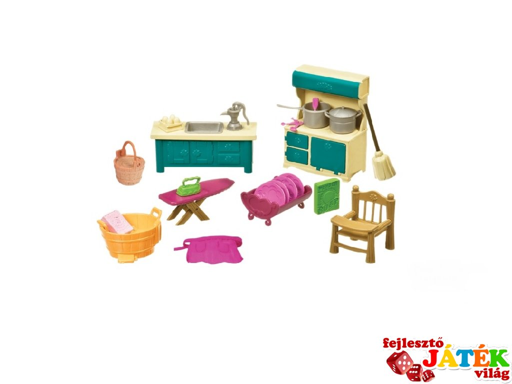 Konyha- és mosókonyha bútorok, Lil Woodzeez szerepjáték (3-6 év)