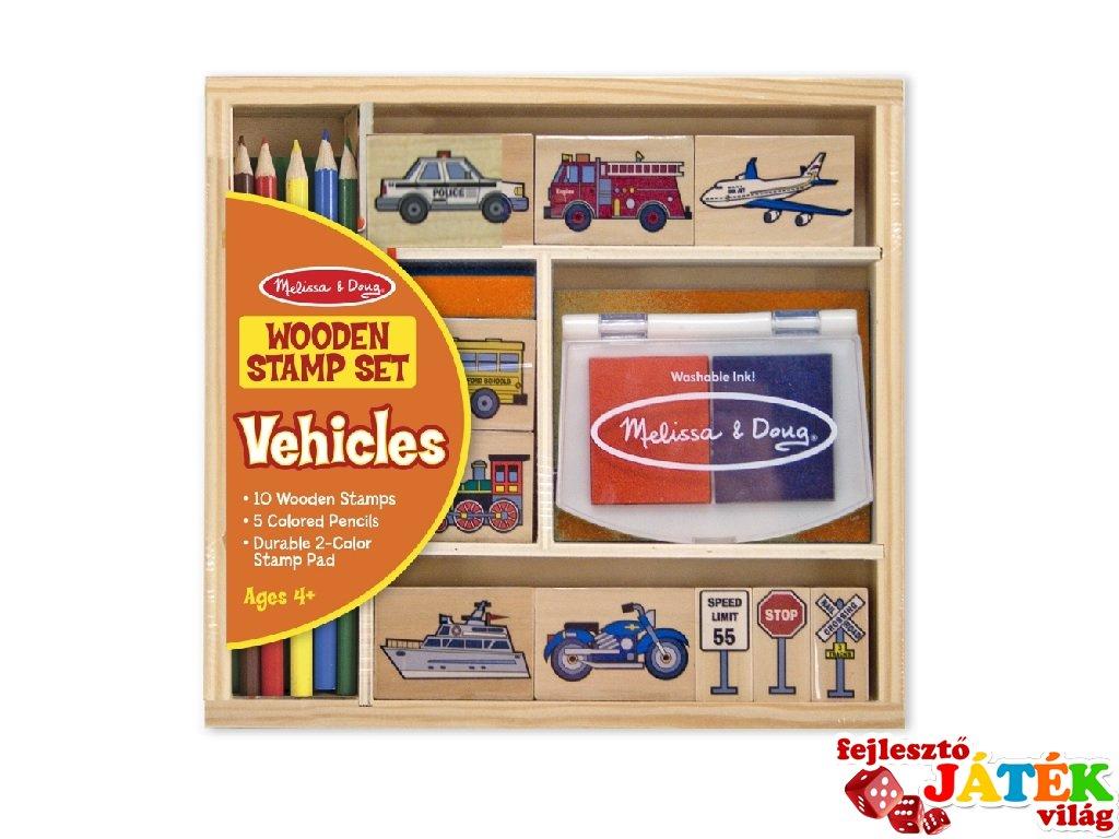 030ae91b55 Kreatív nyomda készlet: Autós, járműves (Melissa&Doug, 12409, kreatív  szett, 4-9 év)