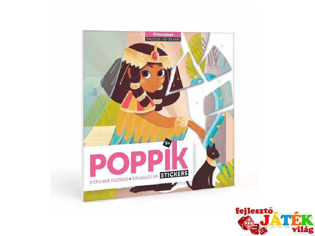 Kreatív poszter készítés 105 db puzzle matricával, Hercegnők (Poppik, 5-7 év)