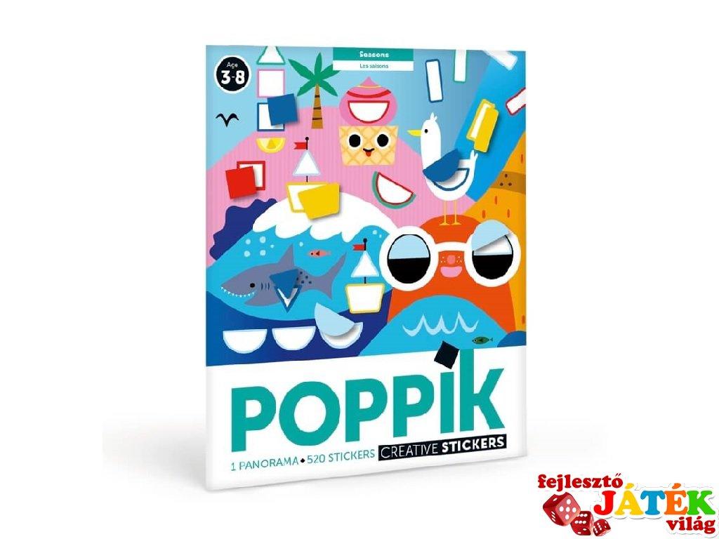 Kreatív poszter készítés 520 db matricával, Évszakok (Poppik, 3-7 év)