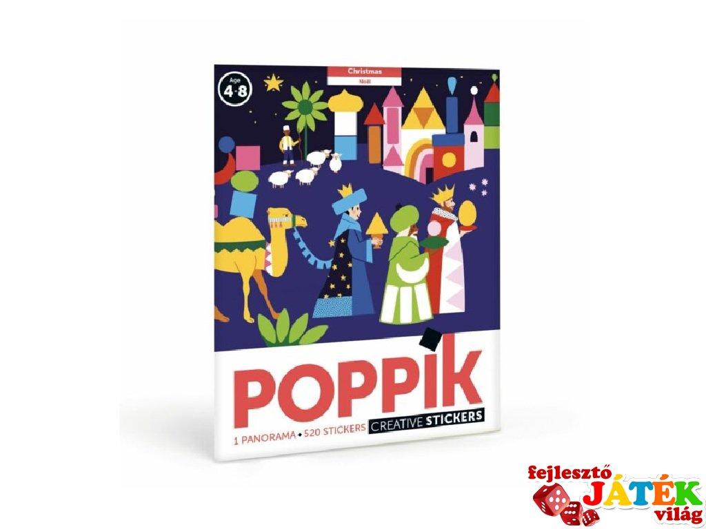 Kreatív poszter készítés 520 db puzzle matricával, Karácsony (Poppik, 4-8 év)