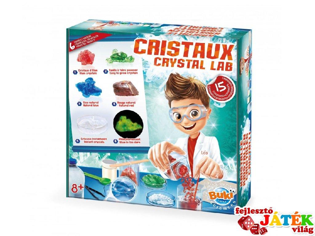 Kristálynövesztő laboratórium, tudományos játék 15 kísérlettel (Buki, 8-14 év)