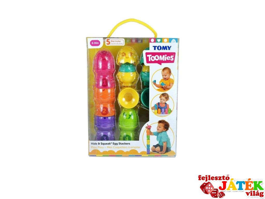 Kukucska tojáskák számokkal, bébi építőjáték (1-3 év)
