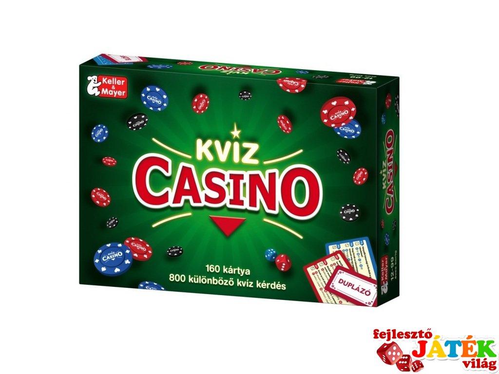 Kvíz Casino, Keller & Mayer blöffölős, pókeres partijáték (9-99 év)