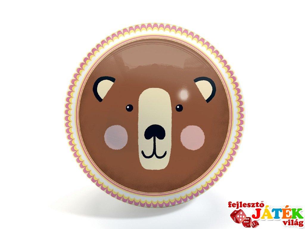 Labda 22 cm-es, Medve és róka, Djeco mozgásfejlesztő játék - 165 (1-6 év)