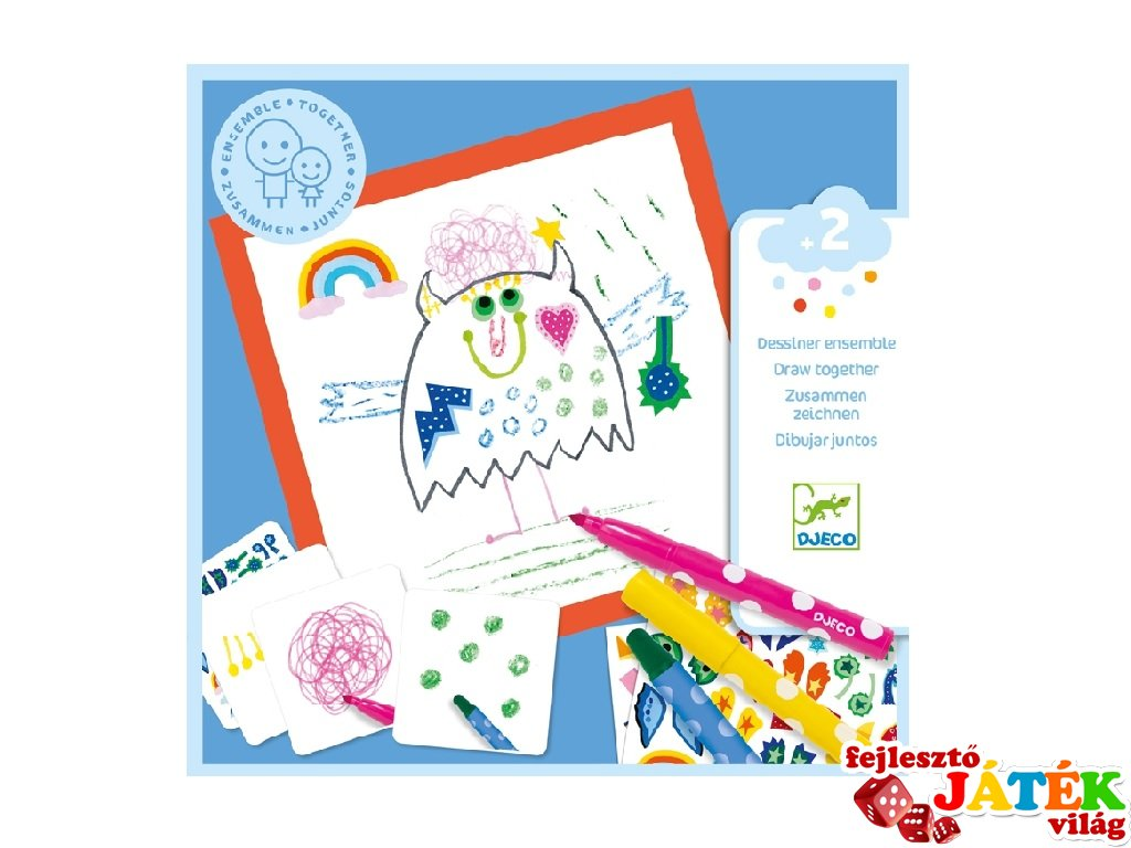 Little monsters, Djeco rajztanító kreatív készlet - 9290 (2-5 év)