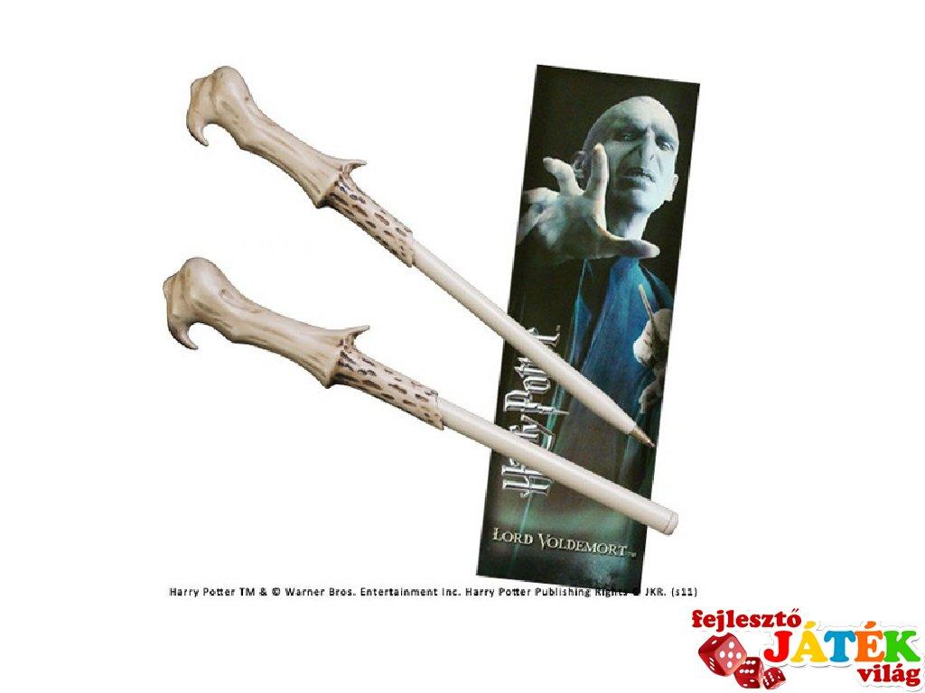 Lord Voldemort varázspálca alakú toll és könyvjelző, Harry Potter papír-írószer