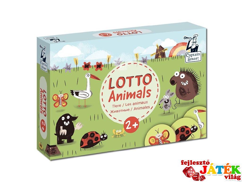 Lottó játék állatok, Captain Smart készségfejlesztő játék (2-4 év)