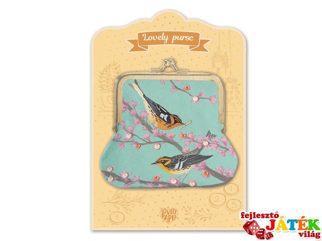 Lovely Purse Djeco pénztárca, Birds - 3863