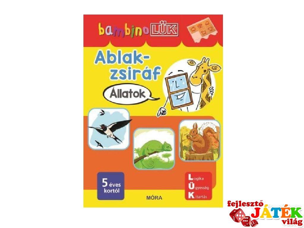 Lük Bambino Ablak-zsiráf állatok, egyszemélyes fejlesztő logikai játék (5-6 év)