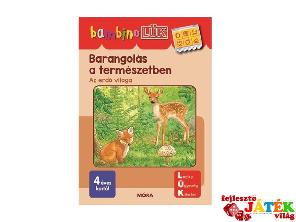 Lük Bambino Barangolás a természetben, egyszemélyes fejlesztő logikai játék (4-6 év)