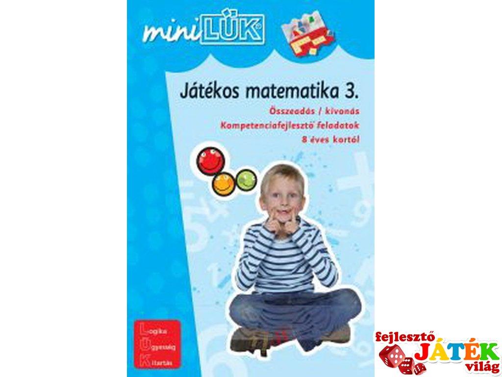 Lük Mini, Játékos matematika 3. (egyszemélyes, fejlesztőjáték, 9 éves kortól)