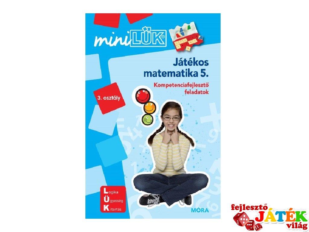 Lük Mini Játékos matematika 3. osztály, egyszemélyes fejlesztő logikai játék (8-10 év)