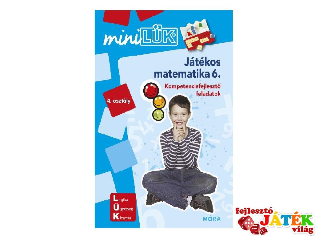 Lük Mini Játékos matematika 4. osztály, egyszemélyes fejlesztő logikai játék (9-11 év)