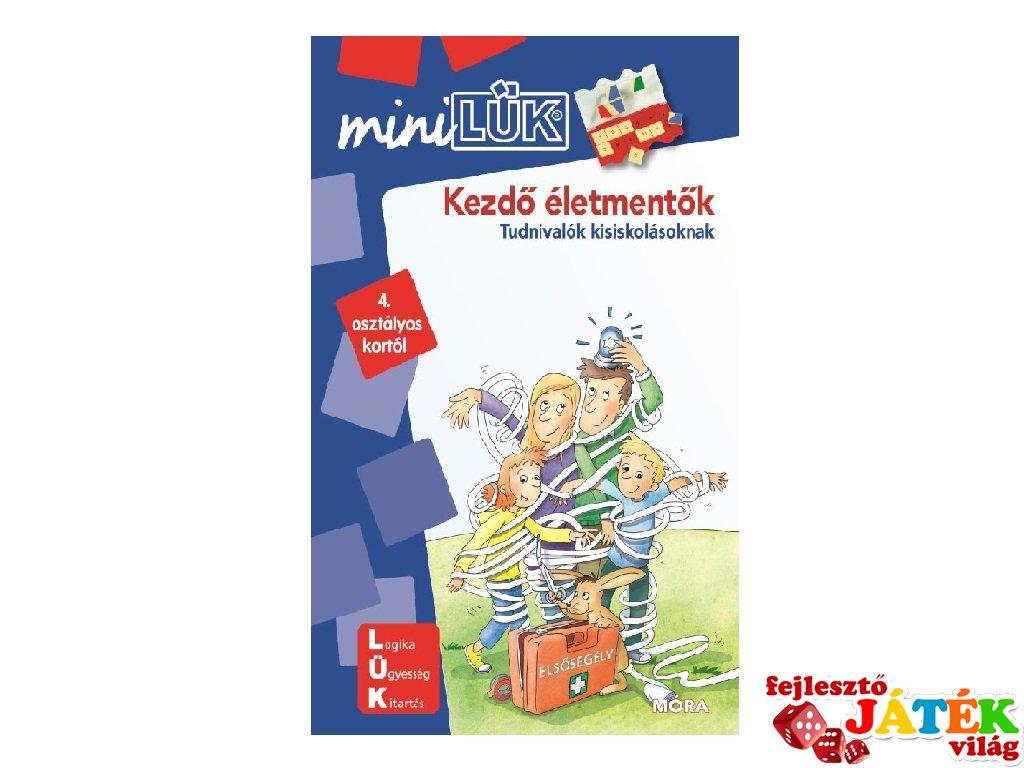Lük Mini Kezdő életmentők 4. osztály, egyszemélyes fejlesztő logikai játék (9-11 év)